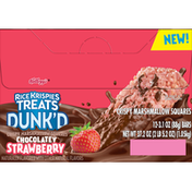 Kellogg's Crispy Marshmallow Squares, Chocolate Strawberry, Dunk'd, 12 Pack