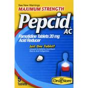 Pepcid Acid Reducer, Maximum Strength, Tablets