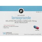 Publix Lansoprazole, 24 Hour, Acid Reducer, 15 mg, Delayed-Release Capsules