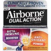 Airborne Dual Action Citrus Effervescent Tablets Immune Support