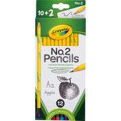 Crayola Pencils, Pre-sharpened, No.2