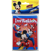 Disney Invitations, with Envelopes, Mickey and the Roadster Racers