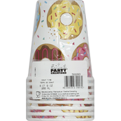 Party Creations Cups, Donut Time, 9 Ounce