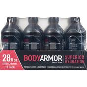 BODYARMOR Sports Drink, Blackout Berry, 12 Pack