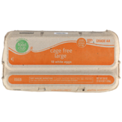 Food Club Cage Free Grade Aa Large White Eggs