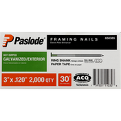 Paslode Framing Nails, Galvanized/Exterior, Hot Dipped