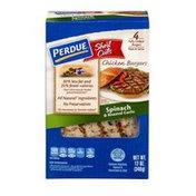 Perdue Short Cuts Chicken Burgers Spinach & Roasted Garlic - 4 CT