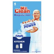 Mr. Clean Kitchen With Dawn, Cleaning Pads With Durafoam