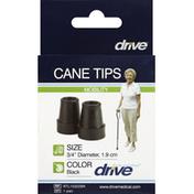 Drive Cane Tips, Black