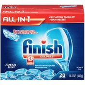 Finish Gelpacs All in 1 Fresh Scent Automatic Dishwasher Detergent