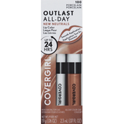 CoverGirl Lip Color with Topcoat, Porcelain 100