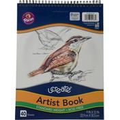 UCreate Artist Book, 9 in x 12 in