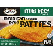 Grace Patties, Fully Baked, Mild Beef Filling