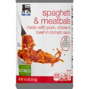 Food Lion Spaghetti & Meatballs, Can