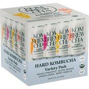 Kombrewcha Mango Pineapple, Blood Orange, Ginger Lemon & Berry Hibiscus Hard Kombucha Variety Pack