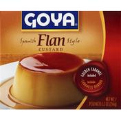 Goya Flan Custard, Spanish Style with Caramel