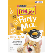 Friskies Made in USA Facilities Cat Treats, Party Mix Cheezy Craze Crunch