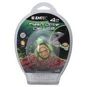 Emtec Flash Drive, 4 GB, Aquarium Turtle