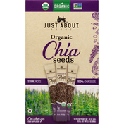 Just About Foods Chia seeds, Organic, On-The-Go, Stick Packs