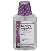 TopCare Simple Relief, Allergy Cough Suppressant Chlophedianol Hcl 25 Mg, Antihistamine Pyrilamine Maleate 50 Mg Liquid