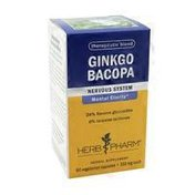 Herb Pharm Ginkgo Bacopa Nervous System Mental Clarity* Herbal Supplement