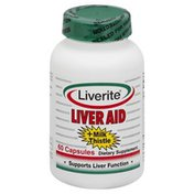 Liverite Liver Aid, + Milk Thistle, Capsules
