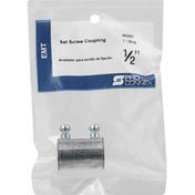 Pro Connex Set Screw Coupling, 1/2 Inch, EMT