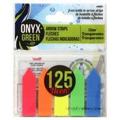 Onyx + Green Arrow Strips, Clear, Neon, Card