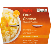 Hy-Vee Mashed Potatoes, Four Cheese, Microwaveable