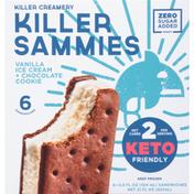 Killer Sammies Ice Cream Sandwiches, Vanilla