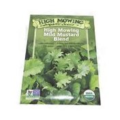 High Mowing Organic Seeds Mustard Blend Garden Seeds