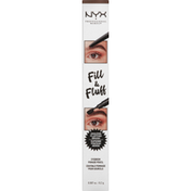 NYX Professional Makeup Eyebrow Pomade Pencil, Fill & Fluff, FFEP05 Ash Brown