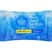 Signature Care Wipes, Hand Sanitizer, Instant