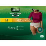 Depend Underwear, Ultimate Absorbency, M