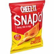 Cheez-It Cheese Cracker Chips, Thin Crisps, Lunch Snacks, Double Cheese