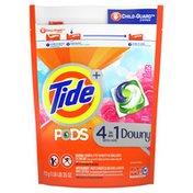 Tide PODS Plus Downy HE Turbo Liquid Laundry Detergent Pacs, April Fresh