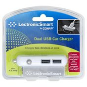 Lectronic Smart Car Charger, Dual USB