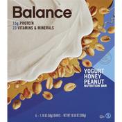 Balance Bar Nutrition Bars, Yogurt Honey Peanut