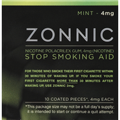 Zonnic Stop Smoking Aid, 4 mg, Gum, Mint