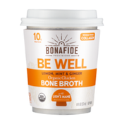 Bonafide Provisions Be Well Bone Broth Cup with Lion's Mane Mushrooms, FROZEN