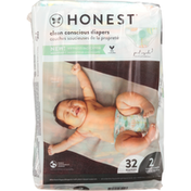 Honest Tea Diapers, Tummy Timer,  Above It All, Size 2 (12-18 lbs)