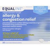 Equaline Allergy & Congestion Relief, Original Prescription Strength, Extended Release Tablets