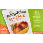 Juicy Juice Splashers Juice Pouches Peach Mango