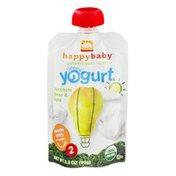 Happy Baby Happy Baby Organic Baby Food Stage 2 Greek Yogurt Zucchini, Pear & Kale
