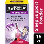 Airborne® Good Rest Very Berry Powder Immune Support Supplement That Helps You Relax To Support Your Sleep٭