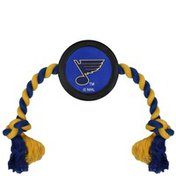 Pets First NHL Saint Louis Blues Puck Dogs & Cats Toy With Rope