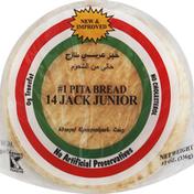 Global Bakeries Pita Bread, No. 1, 14 Jack Junior