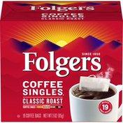 Folgers Coffee Singles Classic Medium Roast Coffee Bags