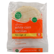 Food Club White Corn Taco Style Tortillas