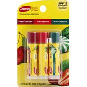 Carmex Moisturizing Lip Balm Fresh Cherry, Strawberry & Wintergreen